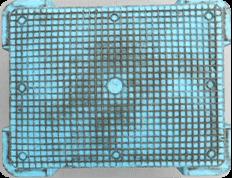 様々な形状タイプのプラスチックコンテナーを洗浄 細かい部分に入り込んだ汚れも落とせます。
